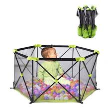 Hot Deal 3e4727 Foldable Baby Playpen Portable Newborn Hexagon Fence Kids Safety Barrier Child Indoor Playground Outdoor Protective Equipment Cicig Co