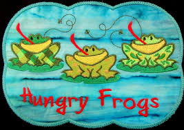 Frog Mug Rug Embroidered Frogs Table Mat Soup Mat Coffee Etsy