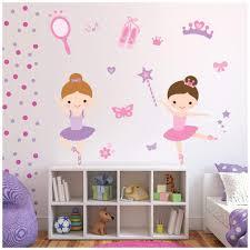 Azutura Ballerina Wall Sticker Set Ballet Dance Wall Decal Girls Bedroom Nursery Decor Available In 8 Sizes Medium Digital