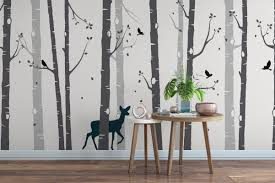 Aesthetic Birch Tree Wall Decal Home Inspirations