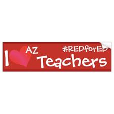 Redfored Arizona Teachers Bumper Sticker Zazzle Com
