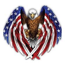 American Eagle Bald Eagle Patriotic Large Size Vinyl Sticker Decal For Truck Car Cornhole Board Sticker 16 Walmart Com Walmart Com