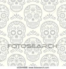 mexican sugar skull vector seamless