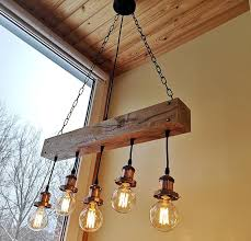 wood beam chandelier wooden chandelier