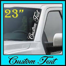 Custom Text Windshield Decal Sticker Vertical Script Banner Side Car Truck Euro Ebay
