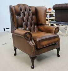 queen anne high back wing chair vintage