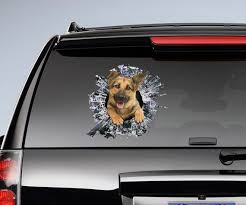German Shepherd Window Sticker Car Sticker Puppy Car Decal Etsy