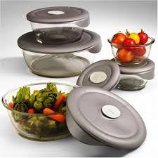 pyrex glass food storage bowls