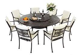 round 8 seater metal patio furniture