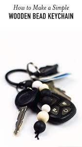 simple wooden bead keychain easy