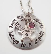 deputy sheriff necklace gift for