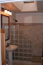 glass block with solid glass wall
