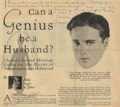 Search | Search | Can a Genius be a Husband?/By Adela Rogers St. Johns |  Charlie Chaplin Archive