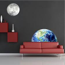Half Earth Wall Mural Decal Space Wall Decal Murals Primedecals