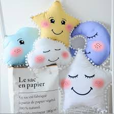 On Sale 1pc Cartoon Star Moon Smiling Face Children Sleep Cushion Cute Clouds Eyelash Kids Room Decoration Plush Pillow Cushions Balls 89 Dolls Stuffed Toys Web 29