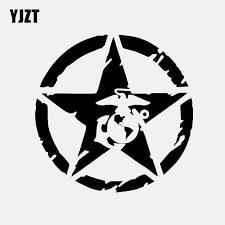 Yjzt 13cm 13cm Usmc Vinyl Decal Star Logo Military Marine Car Sticker Black Silver C3 0686 Car Stickers Aliexpress