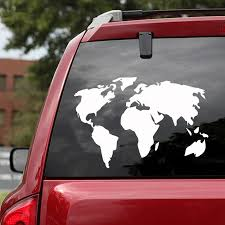 Car Sticker World Map Sticker For Car Door Decoration Stickers For Auto Wrap Vinyl Cars Decal For Window Decoration Accessories Car Stickers Aliexpress