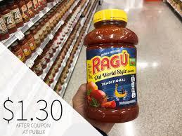 ragu pasta sauce only 1 30 per big jar