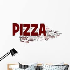 Italian Pizza Word Cloud Wall Decal Wallmonkeys Com