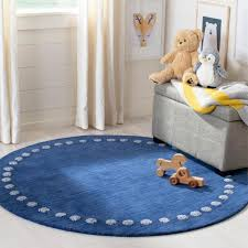 Safavieh Kids Navy 5 Ft X 5 Ft Round Area Rug Sfk802n 5r The Home Depot