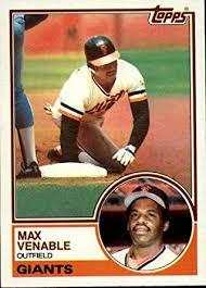 Amazon.com: 1983 Topps Baseball Card #634 Max Venable: Collectibles & Fine  Art