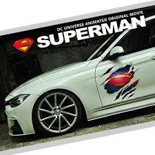 Noizzy Superman Scratch Logo Car Auto Sticker Decal Door Hood Ipad Vinyl Reflective New Wish