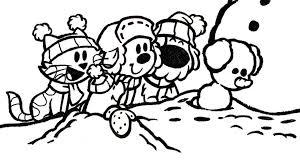Winter Woezel En Pip Kleurplaten Diy Zappelin