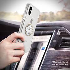 Car Air Vent Phone Holder White Marble Car Charm Air Vent