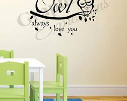 Owl Always Love You Wall Decal Etsy