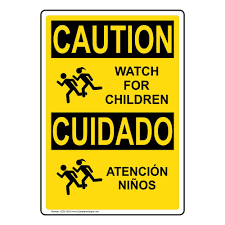 Caution Watch For Children Atencion Ninos Osha Safety Label Sticker Decal 20x14 In Vinyl For Children School Safety By Compliancesigns Amazon Com Industrial Scientific