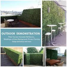 10pcs Boxwood Artificial Topiary Privacy Fence Panels For Outdoor Indoor Decors Use As Faux Greenery Backdrop Privacy Screen 2 Artificial Plants Aliexpress