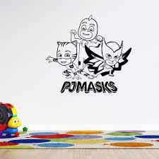 Owlette Gekko And Catboy 3d Animation Cartoon Superheroes Wall Decal 19 X 20 Vinyl Adhesive Pj Masks Home Art Decor Design Kids Bedroom Nursery Removable Sticker Decoration Walmart Com Walmart Com
