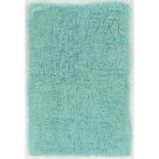 linon home decor new flokati mint 2 ft