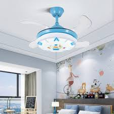 Hot Sale 839a0 Nordic Kids Bedroom Decor Led Ceiling Fan Light Lamp Dining Room Ceiling Fans With Lights Remote Control Lamps For Living Room Cicig Co