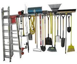 how to organize garden tools in garage