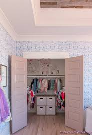 Winter S Little Girl S Closet Organization Makeover With Peony Wall Decals Addison S Wonderland