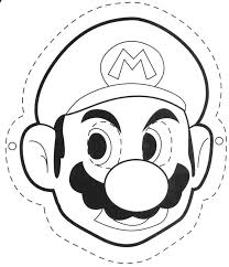 Image Result For Mario Mask Coloring Kleurplaten Super Mario Mario