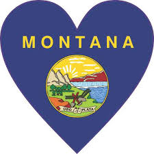 4in X 4in Montana Heart Sticker Car Door Vinyl Decal Truck Bumper Decals Stickertalk