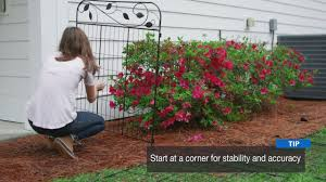 How To Install The No Dig Decorative Garden Fence Youtube