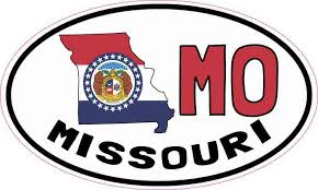5inx3in Oval Mo Missouri Sticker Vinyl Car Truck Bumper Decal Cup Stickers Stickertalk