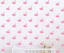 Amazon Com Juruoxin 48 Pcs Set Swan Wall Decal Vinyl Nursert Duck Stickers For Kids Baby Gilrs Bedroom Decoration Art Home Room Decor Ymx31 Soft Pink Home Kitchen