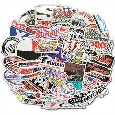50 Pcs Racing Car Sticker Graffiti Jdm Nhra Drag Car Modification Waterproof Sticker For Motorcycle Helmet Motor Suitcase Laptop Stickers Aliexpress