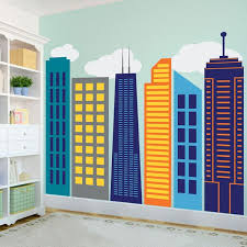 Bold City Skyline Kids Wall Decal Shop Decals From Dana Decals