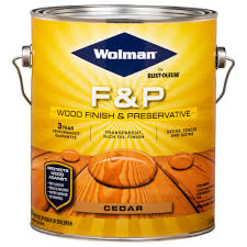 Wolman 1 Gal F P Cedar Exterior Wood Stain Finish And Preservative 4 Pack 14416 The Home Depot