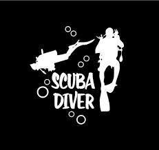 Scuba Divers Decal Scuba Diver Car Decal Scuba Diver Vinyl Decal Scuba Divers Car Decal Scuba Diver Sticker Scub Custom Vinyl Decal Computer Decal Custom Vinyl