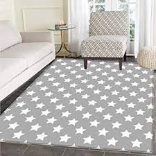 Amazon Com Kids Room Rug Starry Sky Design Star Trend For Playroom Pastel Turquoise White Size 2 8 X 4 11 Kitchen Dining