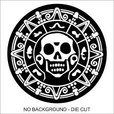 Pirate Skull Medallion Decal Sticker Car Truck Window Lap Etsy