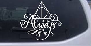 Harry Potter Deathly Hallows Always Car Or Truck Window Decal Sticker Rad Dezigns