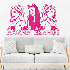 Large Ariana Grande Music Wall Sticker Girl Room Music Super Star Wall Decal Bedroom Fans Vinyl Home Decor 998 Wall Stickers Aliexpress