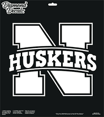 Nebraska Cornhuskers N Logo Football Vinyl Decal Car Truck Logo Window Sticker Diamonddecalz Football Vinyl Decal Car Decals Vinyl Window Stickers